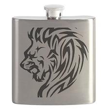 lion-head-tattoo Flask