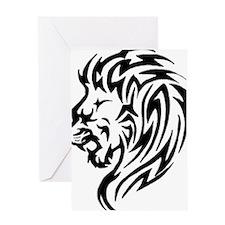lion-head-tattoo Greeting Card