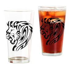 lion-head-tattoo Drinking Glass