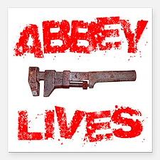 "abbey_lives Square Car Magnet 3"" x 3"""