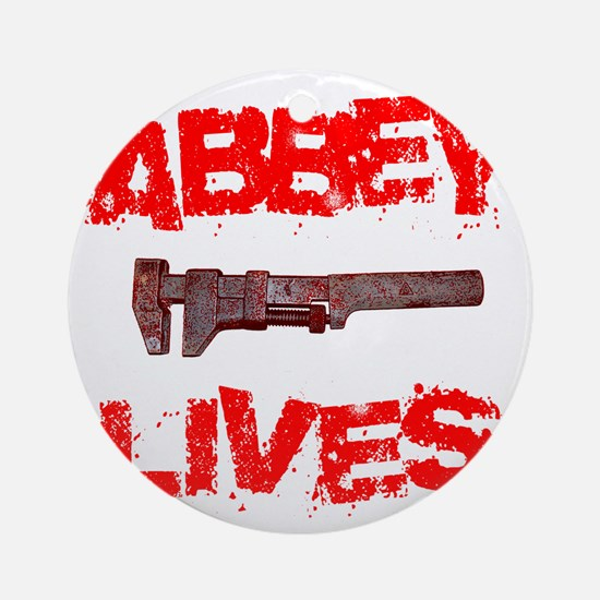 abbey_lives Round Ornament