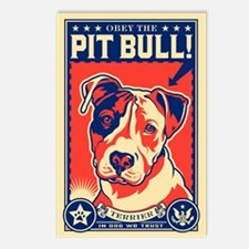 Obey the Pit Bull! USA Postcards (Package of 8)