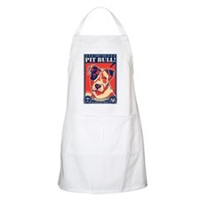 Obey the Pit Bull! USA BBQ Apron