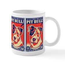Obey the Pit Bull! USA propaganda Mug