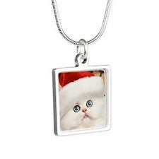 persian_ornmnt Silver Square Necklace