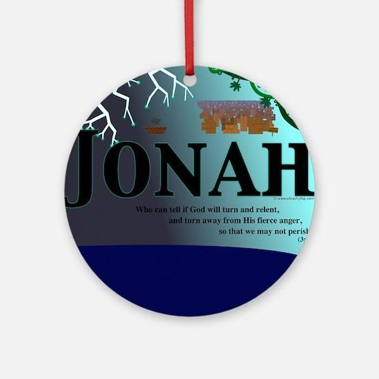Jonah Poster Round Ornament
