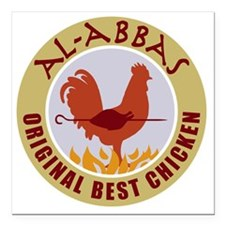 "pal-chicken Square Car Magnet 3"" x 3"""