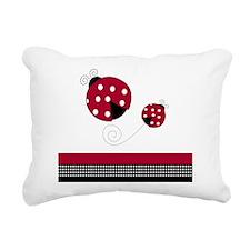 Polka Dot Ladybug Rectangular Canvas Pillow