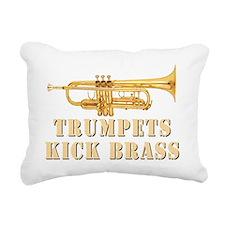 trumpetskickbrass_2_dark Rectangular Canvas Pillow