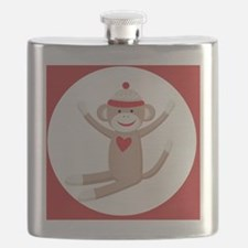 Sock Monkey Sticker Flask