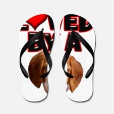 Loved by a Brittany Spaniel Flip Flops