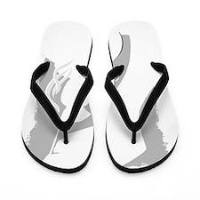 teabag background Flip Flops