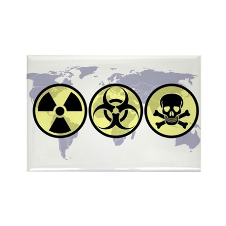 World hazards Rectangle Magnet (100 pack)