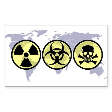 World hazards Rectangle Sticker