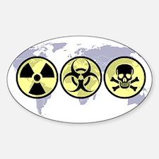 World hazards Oval Decal