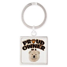 Proud Owner of a Chow Chow Square Keychain