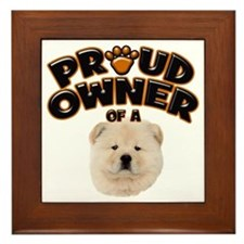 Proud Owner of a Chow Chow Framed Tile