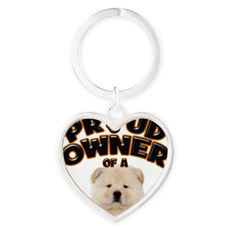 Proud Owner of a Chow Chow Heart Keychain