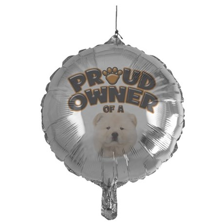 Proud Owner of a Chow Chow Mylar Balloon
