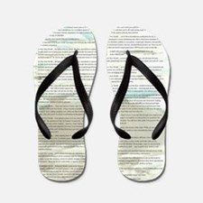 A World With CRPS - Memo Style 17 x 24  Flip Flops