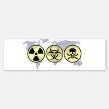 World hazards Bumper Bumper Bumper Sticker