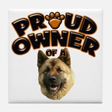 Proud Owner of a Akita Tile Coaster