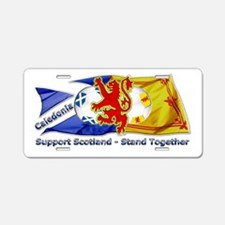 Scotland Caledonia Together Aluminum License Plate