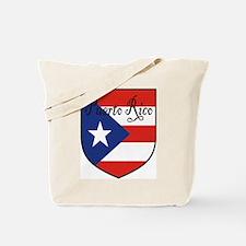 Puerto Rico Flag Shield Tote Bag