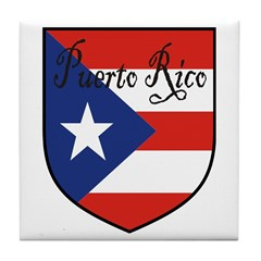 Puerto Rico Flag Shield Tile Coaster