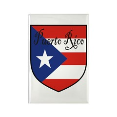 Puerto Rico Flag Shield Rectangle Magnet