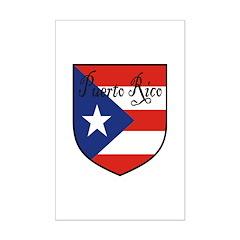Puerto Rico Flag Shield Posters