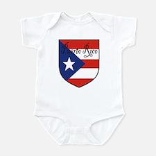 Puerto Rico Flag Shield Infant Bodysuit