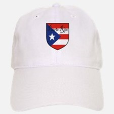 Puerto Rico Flag Shield Baseball Baseball Cap