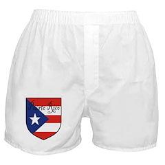 Puerto Rico Flag Shield Boxer Shorts