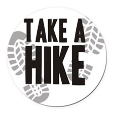 hike Round Car Magnet