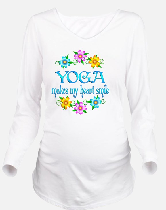 YOGA Long Sleeve Maternity T-Shirt