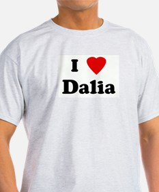 I Love Dalia Ash Grey T-Shirt