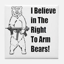 bear gunl Tile Coaster