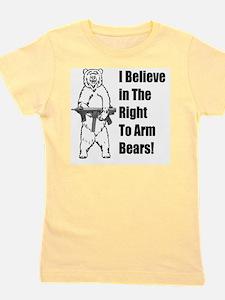 bear gunl Girl's Tee