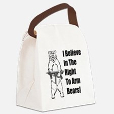 bear gunl Canvas Lunch Bag