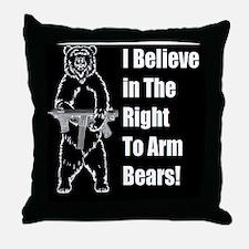 bear gund Throw Pillow