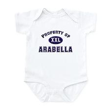 Property of arabella Infant Bodysuit