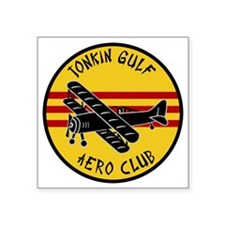 "Tonkin Aero Club Square Sticker 3"" x 3"""
