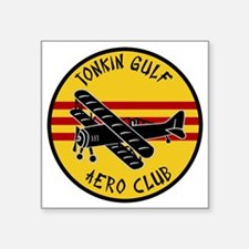 "Tonkin Aero Club Square Sticker 3"" x 3"""