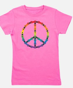 peace chain vivid Girl's Tee