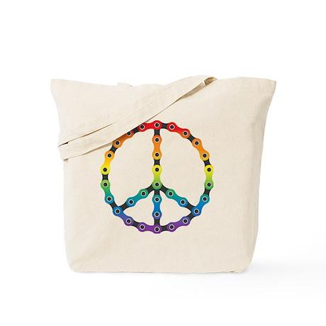 peace chain vivid Tote Bag