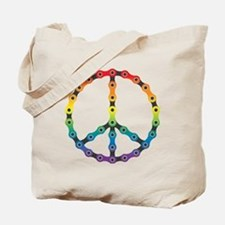 peace chain vivid Tote Bag
