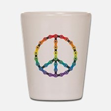 peace chain vivid Shot Glass