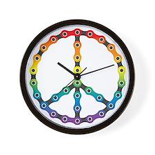 peace chain vivid Wall Clock