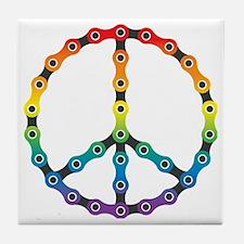 peace chain vivid Tile Coaster